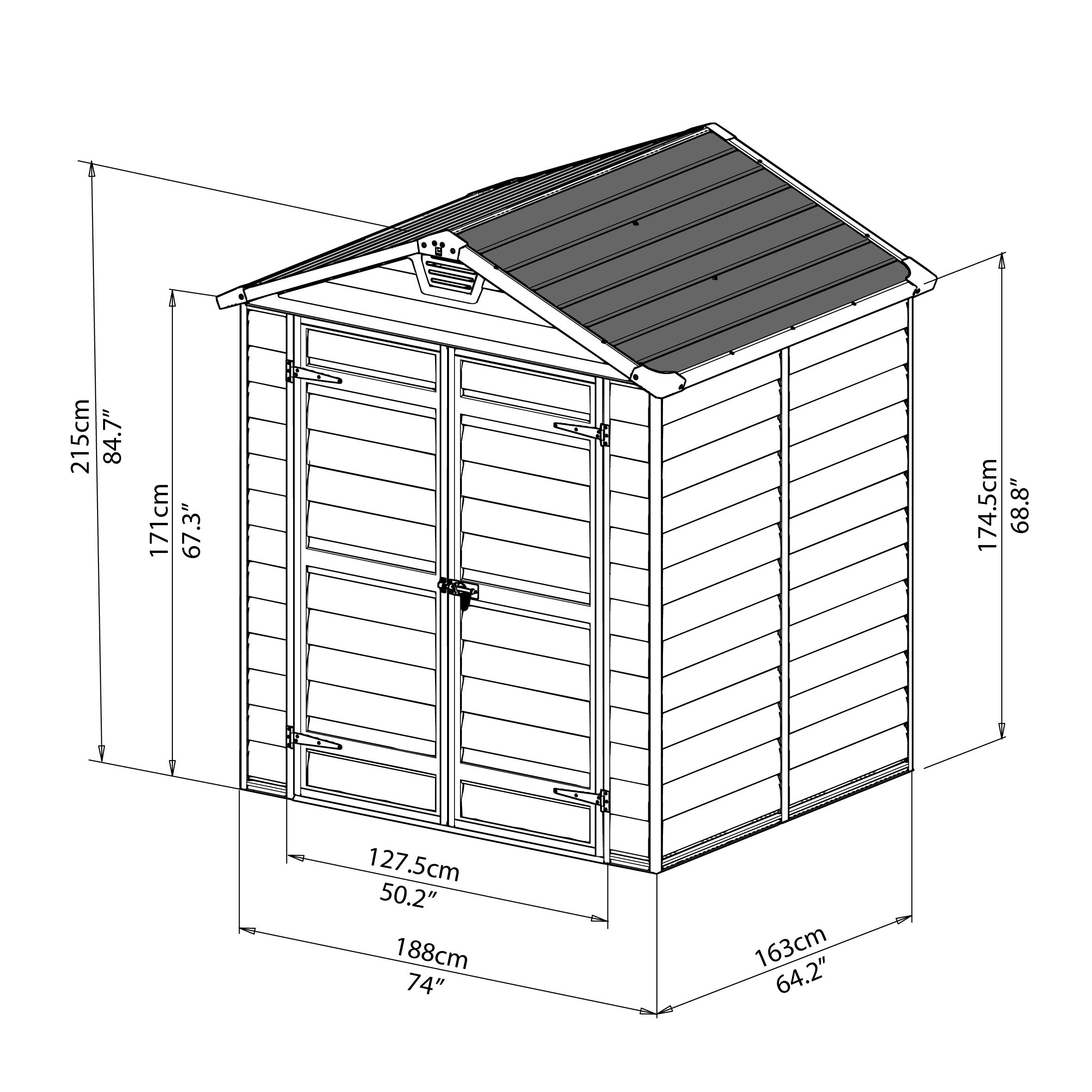 abri clevy en r sine polycarbonate avec plancher madeira 002299 abris. Black Bedroom Furniture Sets. Home Design Ideas