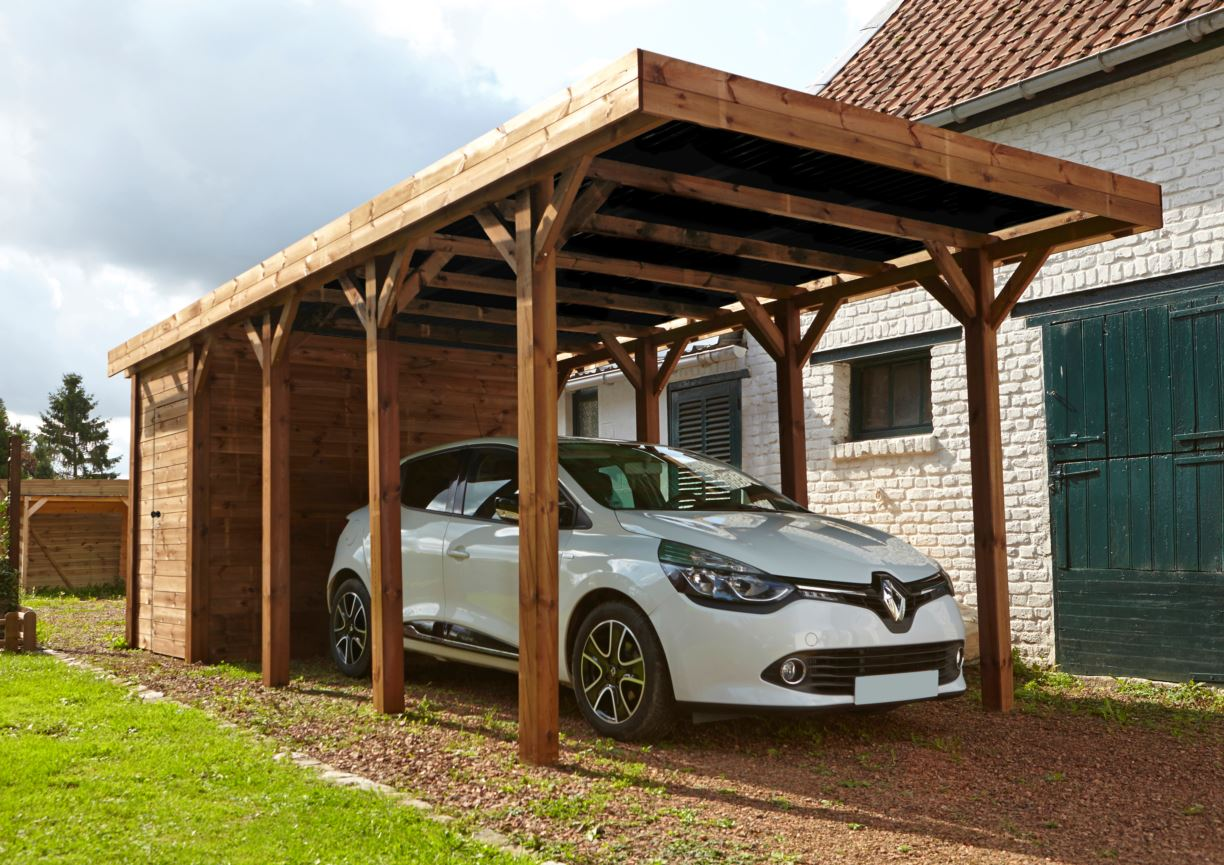 carport couvert harry autoportant 1 voiture avec. Black Bedroom Furniture Sets. Home Design Ideas